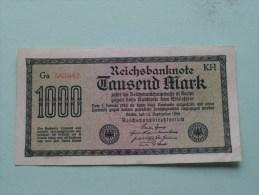 TAUSEND MARK Berlin 1922 / N° Ce 146868 - VL   ( For Grade, Please See Photo ) ! - [ 3] 1918-1933 : République De Weimar