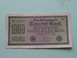 TAUSEND MARK Berlin 1922 / N° Re 269594 - VL   ( For Grade, Please See Photo ) ! - [ 3] 1918-1933 : Repubblica  Di Weimar