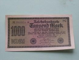 TAUSEND MARK Berlin 1922 / N° M 081941 - PG   ( For Grade, Please See Photo ) ! - [ 3] 1918-1933 : République De Weimar