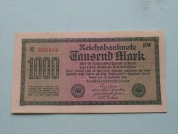 TAUSEND MARK Berlin 1922 / N° Q 265418 - BW   ( For Grade, Please See Photo ) ! - [ 3] 1918-1933 : République De Weimar
