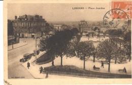 POSTAL    LIMOGES  -FRANCIA-  PLAZA  JOURDAN - - Limoges