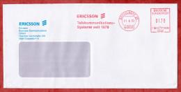 Brief, Francotyp-Postalia F68-3294, Ericsson Telekommunikations-Systeme, 170 Pfg, Duesseldorf 1990 (52075) - BRD