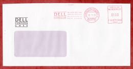 Brief, Francotyp-Postalia F68-3338, Dell Computer, 100 Pfg, Langen 1991 (52076) - Briefe U. Dokumente