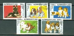Azerbaycan 1996 Dogs / Chiens / Honden Mi 306 / 310 Used - Azerbaïdjan