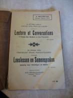 Leeslessen En Samenspraken     Door G.Hellebuyck, Kantonale Opziener, Thielt  Gedrukt In 1922 - Books, Magazines, Comics