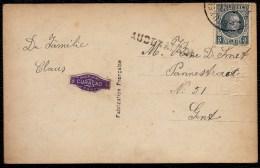 LANGSTEMPEL - GRIFFE * AUDENAERDE * SUR CARTE DE BRUXELLES A GAND ??? - Postmark Collection