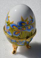 Oeuf En Porcelaine, De Collection, Boite à Bijoux - Oeufs