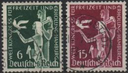 ALLEMAGNE DEUTSCHES III REICH 577 à 578 (o) Congrès Des Loisirs Et De La Récréation Hambourg 2 - Germany