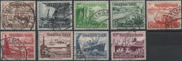 ALLEMAGNE DEUTSCHES III REICH 594 à 602 (o) Bâteaux Secours D'hiver (CV 27,50 €) - Used Stamps
