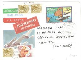 AEROGRAMMI-CINQUANTENARIO DELLA TRASVOLATA ATLANTICA - 1981-90: Marcophilie