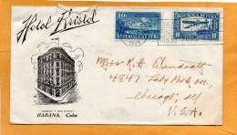 Cuba 1938 Cover Mailed To USA - Cuba