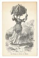 ALPES-MARITIMES  /  LA PORTEUSE DE CITRONS DE MENTON ( Dessin De P. FLORENCE ) /  Thème : Petits Métiers D´autrefois - Menton