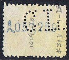 Alfonso XIII  40 Cts   Ed 276   Perforado  CL  Credit Lyonnais   Perfin - 1889-1931 Reino: Alfonso XIII