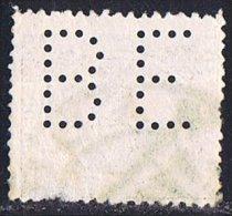 Tipo Pelón   30 Cts  Ed 222  Perforado  BE - 1889-1931 Reino: Alfonso XIII
