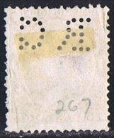Tipo Pelón   75 Cts  Ed 225  Perforado  RC  Perfin - 1889-1931 Reino: Alfonso XIII