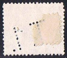 Tipo Pelón   1 Pta    Ed  226   Perforado  T.1   Perfin - 1889-1931 Reino: Alfonso XIII