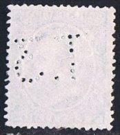 Tipo Pelón   5 Cts   Ed  215  Perforado  T.3    Perfin - 1889-1931 Reino: Alfonso XIII