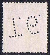 Tipo Pelón   10 Cts   Ed  217  Perforado  T.6    Perfin - 1889-1931 Reino: Alfonso XIII