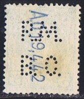 Tipo Cadete   5 Cts  Ed 242  Perforado  RMBC  Perfin - 1889-1931 Reino: Alfonso XIII