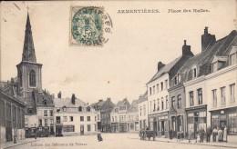 Thematiques 59 Nord Armentiéres Place Des Halles Cachet Ecrite Timbrée 02 06 1903 - Armentieres