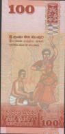 O) 2010 SRI LANKA,SPECIAL EDITION- BANKNOTE, 100 RUPEES, BIRD, BUTTERFLIES, CASCADE, DANCE-MRIDANGAM, - Sri Lanka (Ceylon) (1948-...)
