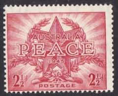 Australia 1946 Peace 21/2d MNH - - 1937-52 George VI