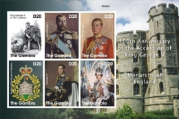 MINT NH STAMPS OF GAMBIA  3298  100th  OF KING GEORGE V ; MONARCHS OF ENGLAND - Gambia (1965-...)