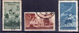 1953 - 4e ANNIV. DE L´ORGANISATION DES PIONNIERS, MI 1425/1427 Et Yv 1304/1306  X - Usado