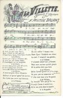 A LA VILLETTE - Paroles Et Musique D'ARISTIDE BRUANT ( CP  CHANSON - PARTITION ) - District 19