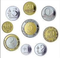 Lithuania UNC/aUNC Complete Coin Set Of 9 Coins - Lituanie