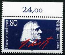 A07-33-1) BRD - Mi 1285 Oberrand ✶✶ - 80Pf               Franz Liszt - Unused Stamps
