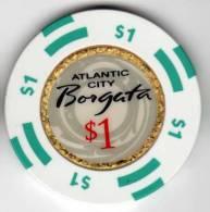 Jeton Chip De Casino à Atlantic City : Borgata $1 - Casino