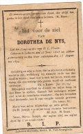 Bidprentje Dorothea De Nys - Lokeren 1823-1894 - Vieux Papiers