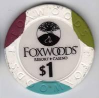 Jeton Chip De Casino à Foxwoods : MSM Grand At Foxwoods $1 - Casino