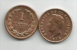 El Salvador 1 Centavo 1972. UNC/AUNC - El Salvador