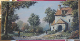 PLUMAUGAT, BRETAGNE, HUILE SUR TOILE (16906) - Oils