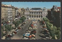 DF / 42 LOIRE / SAINT-ETIENNE / PLACE DE L' HÔTEL DE VILLE / VOITURES ANCIENNES / CIRCULÉE EN 1965 - Saint Etienne