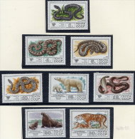 SOVIET UNION 1977 Fauna: Poisonous Snakes And Mammals Set Of 8  MNH / **.  Michel 4678-85 - 1923-1991 USSR