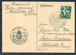 Deutsches Reich - 1938 - Postkarte - Berlin -  Sonderstempel Deutschlandreise Reichsverweser Horthy - Briefe U. Dokumente