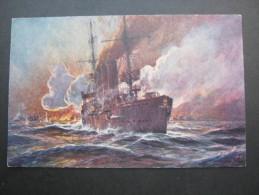 Willy Stöwer, Schöne Karte Um 1915 - Warships