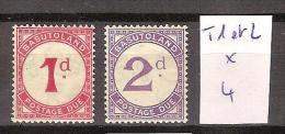 Basutoland Taxes 1 & 2 * Côte 4 € - 1933-1964 Kronenkolonie