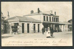 VIRE - La Gare, Animé  (dos Non Divisé) - Vire