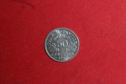 50 CENTIMES Bazor (ALU)1943 En SUP+ à SPL. - France