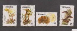 Vanuatu 1984 Fungi Mushroom Set 4 MNH - Mushrooms