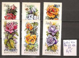 Bhoutan 407 à 410 + PA 123-124 ** Côte 6.25 € - Bhutan