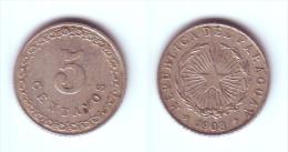 Paraguay 5 Centavos 1908 - Paraguay