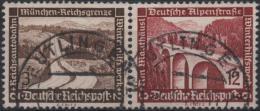 ALLEMAGNE DEUTSCHES III REICH 582 & 587 (o) Se Tenant : Pont Et Autoroute 2 - Se-Tenant