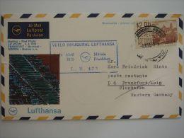 Mexico 1970 Lufthansa Merida - Frankfurt FFC First Flight Cover 1er Vol Erstflug - México
