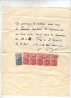 Reconnaissance De Dette , SAINT SATURNIN , Veuve St Just à Fernand Combeau , Timbres, Frais Fr : 1.80€ - Factures & Documents Commerciaux