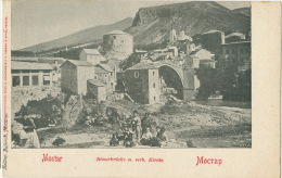 Mostar Romerbrucke M. Serb. Kirche Russian Serbian Church Written In Russian - Bosnie-Herzegovine